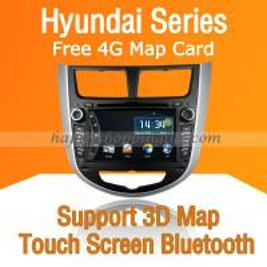 China Autoradio DVD with GPS Navigation ISDB-T for Hyundai Verna on sale