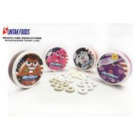 White Chocolate Mint Candy / Low Fat Candy In Round Box Custom Logo Manufactures