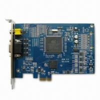 H.264 CCTV DVR Card with 8-channel Video Input, Supports Real-time Display and Recording Rate Manufactures