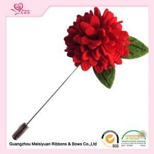 Artificial flower pins 3cm christmas lapel pins fashionable design