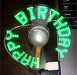 Buy cheap Pocket flashing led message usb fan with silk-screen logo for advertisement from wholesalers