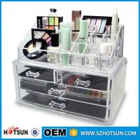 China Acrylic Cosmetic Storage Display Boxes, Wholesales cosmetic organizer with drawers,hot sales acrylic makeup organizer on sale