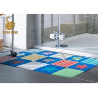 Custom Outdoor Anti Slip Area Rugs For Indoor Mats With PVC Coated Dots Manufactures