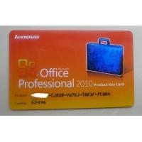Microsoft Office 2010 Product Key Card For MS Office Professional 2010 Manufactures