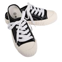 China Breathable Womens Canvas Shoes Lace Up Sneakers Four Colors Optional on sale