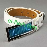 China LED Programmable Message Belt Buckles on sale