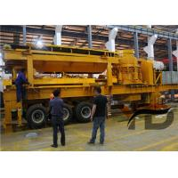 Hydraulic Huge Stone Mobile Crusher Stationr With Tyres ISO Certification for sale