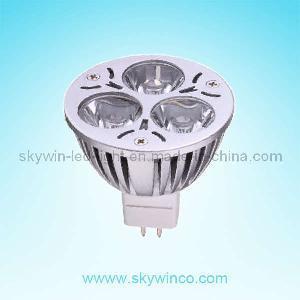 Gu5.3 MR16 LED Spotlight 3*1W (SW-BS03D5-S013) Manufactures