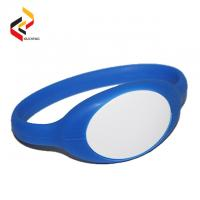 HF Passive 13.56MHz NFC RFID Silicone Wristband Rubber Silicone Chip Wristband for Access Control Manufactures
