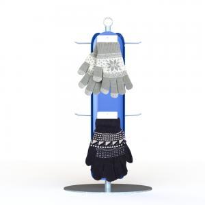 Customized Gloves Metal Display Rack With 3 Sides Plastic Panel Metal Hooks retail Clothing Display Racks Manufactures