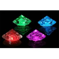 Water Submersible Decorative Diamond Led Ice Cube Food Grade Plastic Manufactures