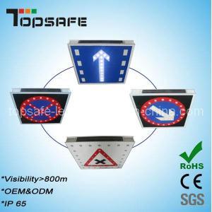 Aluminum Flashing Solar LED Traffic Warning Signage Manufactures