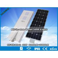 Hitechled 40W Intelligent Integrated Solar LED Street Light,Luminarias solares de Leds Manufactures