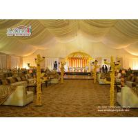 30 X 60 White Big Tent For Wedding Reception , Wedding Ceremony Tents Manufactures