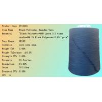Dope Dyed Black polyester core spun yarn Manufactures