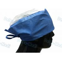 China Doctor' S Disposable Medical Caps With White Crown , Breathable Disposable Operating Room Hats on sale