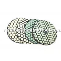 100 mm Dry Diamond Polishing Pads 200 / 800 /1500 Buff With Durable Resin Compound Manufactures