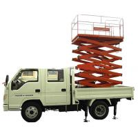 China 3.5 tons Four automatic Vehicle Mounted Scissor Lift  with 90 km/h Max drive speed on sale