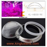 China beam angle 90 degree  100W led grow light concave convex optical led glass lens 100mm on sale