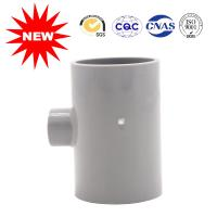 UPVC Reducing Tee Pipe Fitting 50*20 For Clear Water Building , Pvc Pipe Joints Couplings Manufactures
