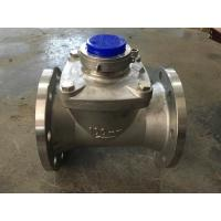 Industrial Woltman Type Water Meter Stainless Steel Body High Accuracy Large Diameter Manufactures