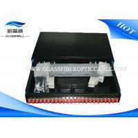 Industrial Fiber Termination Kits 24 ports 19 Inch Optical Fiber Patch Panel White Manufactures