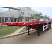 China 40 Ft Flatbed Trailer / Shipping Container Delivery Trailer With Tail Retractable on sale