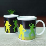 Matching couple mugs heat sensitive color changing mugs 300ml Manufactures