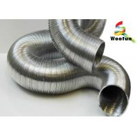 Air Conditioning Semi Rigid Aluminum Duct , Fireproof Round 8 Flexible Aluminum Duct Manufactures