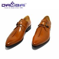 Genuine Leather Dress Shoes Lace Up Pointed Toe Man Shoes US 6.5 ~ 10.5 Size Manufactures