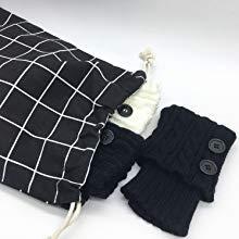 black clothing drawstring storage bag