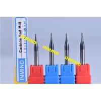 Carbide 0.2 mm Micro Milling Cutters , 2 Flute TiSiN Coating Milling Machine Cutters Manufactures