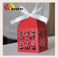 Laser Cut Candy Gift Boxes Merry Christmas Snow Snowflake Design Manufactures