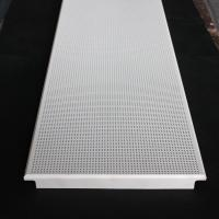 Aluminum Clip In Suspended Perforated Acoustic False Ceiling 300x1200mm Dia 1.8mm Manufactures