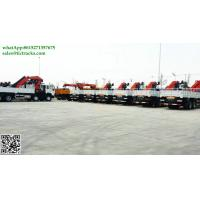 China DRZ 8x4 Sino truck ZZ5311 lorry truck mounted crane 57.8mT Palfinger SPK62002MH Knuckle boom cell:8615271357675 on sale