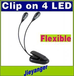 Black mini Book Light Dual 2 Arm 2-mode 3 x AAA Battery Flexible Stand Book Light table light LED Aluminum Flashlight Manufactures