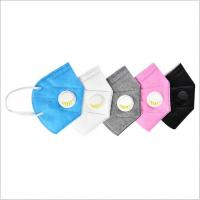 China Multi Color Disposable Dust Masks With Valve Three Layer High Protction Level on sale