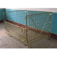Warehouse Storage Pallet Cage Stackable Wire Mesh Metal Container Manufactures