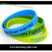 colorful promotional gifts embossed-debossed silicone bracelet/silicone wristband Manufactures