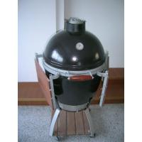 L / M / S Φ535 * H760mm Big Green Egg Ceramic Oven With Stainless Steel Barbecue Net Manufactures
