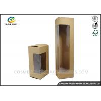 China Fresh Fruits Food Packing Boxes Kraft Paper Food Boxes With Display PVC Window on sale