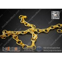 Golden Color Aluminum Chain for Fly Screen Curtain | HeslyMesh Factory Manufactures
