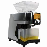 China Automatic high quality household oil press machine for INDIA market 220V in gold color on sale