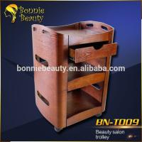wood beauty salon trolley cart Manufactures