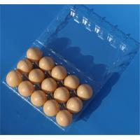 Disposable plastic egg tray 15 holes egg packaging box plastic egg tray 15 slots Manufactures