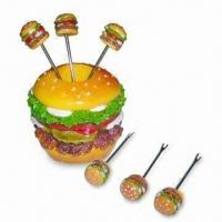 Polyresin Cocktail Stick with Decal and Hand-painted Designs Manufactures