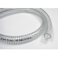 China 8mm Thick PVC Flexible Hose / Transparent Steel Wire Reinforced Pipe / Tubing on sale