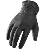 Black Disposable Hand Protection Gloves Powder - Free Nitrile 9 Inches Or 12 Inches Manufactures