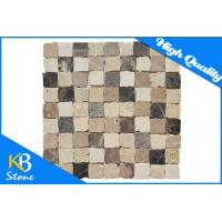 """Dark Emperador / Cream Marfil Travertine Mosaic Marble Tile Meshed on 12"""" X 12"""" for Flooring Manufactures"""