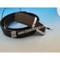 China Poker Cheating IR Camera Device Brown Leather Belt Camera to Scan Invisible Ink Marked Cards on sale